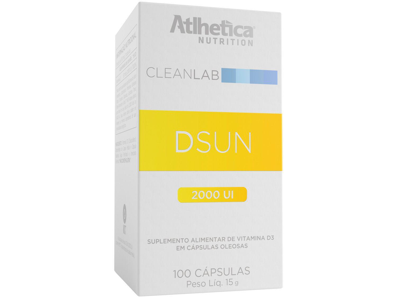 Vitamina D 2000UI Atlhetica Nutrition - Cleanlab Dsun Diet Vegano 100 Cápsulas