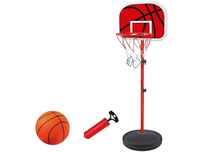 Tabela de Basquete com Pedestal com Bola - e Bomba DM Toys DMT5092