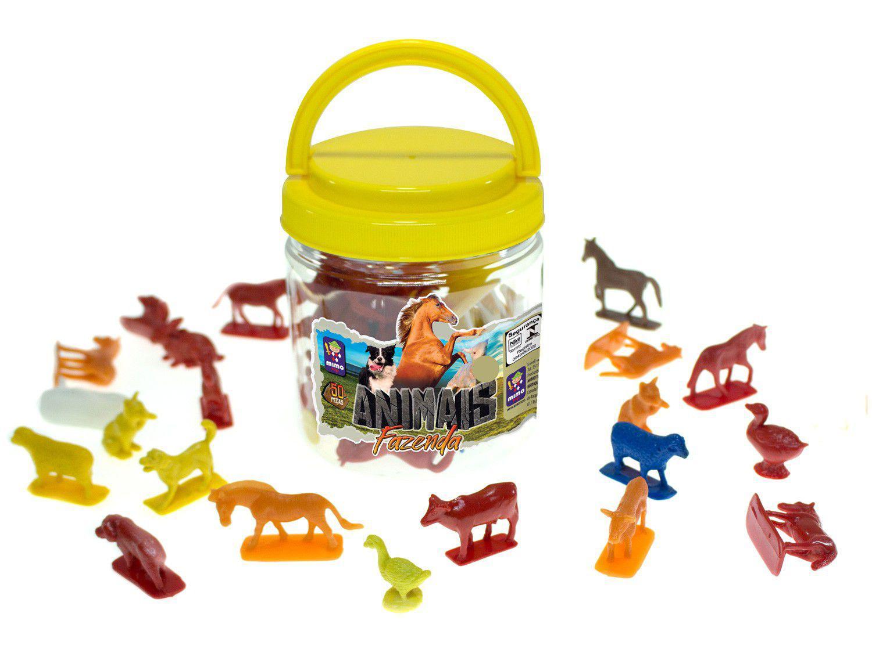 Animais de Brinquedo Animais de Fazenda 50 Peças - Mimo Toys