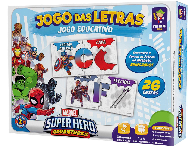 Jogo das Letras Marvel Super Hero Adventures - Mimo Toys
