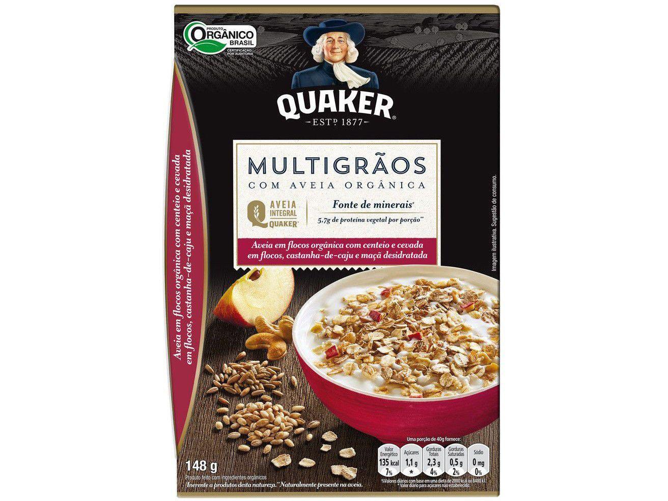 Aveia em Flocos Orgânica Multigrãos Quaker 148g