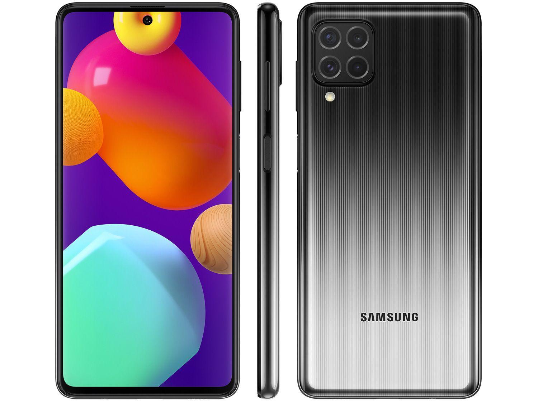 "Smartphone Samsung Galaxy M62 128GB Preto - 4G 8GB RAM Tela 6,7"" Câm. Quádrupla + 32MP"