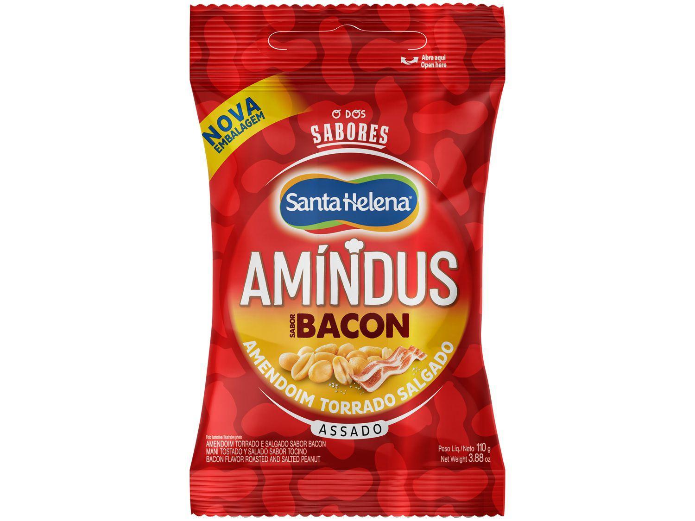 Amendoim Torrado Salgado sem Pele Santa Helena - Amíndus Bacon 110g
