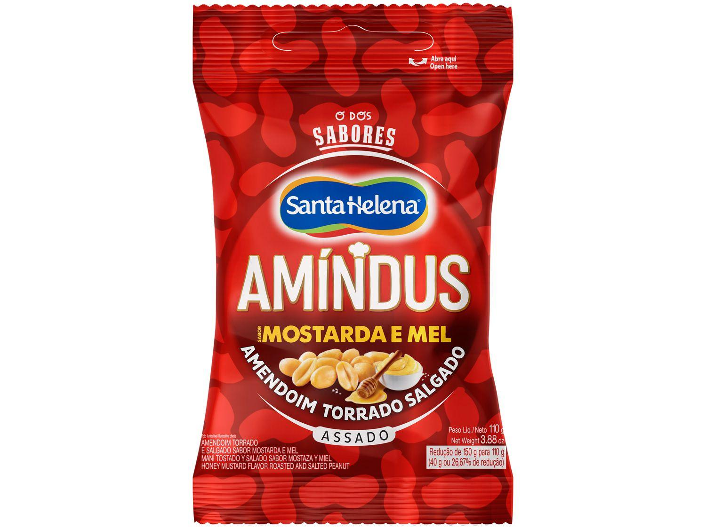 Amendoim Torrado Salgado sem Pele Santa Helena - Amíndus Mostarda e Mel 110g