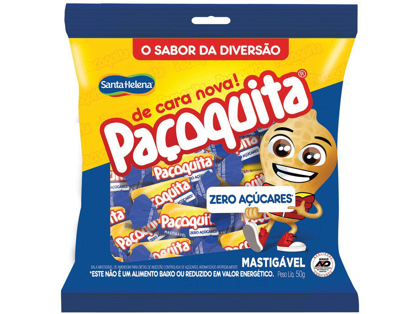 Bala Paçoquita Mastigável Paçoca sem Açúcar 50g