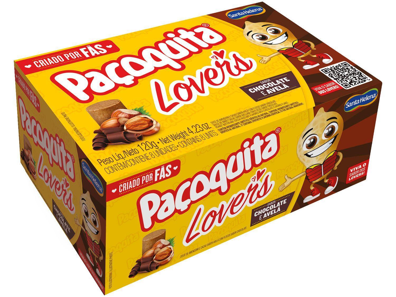 Paçoca Rolha Chocolate e Avelã Paçoquita Lovers - 120g