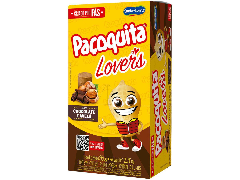 Paçoca Rolha Chocolate e Avelã Paçoquita Lovers - 360g