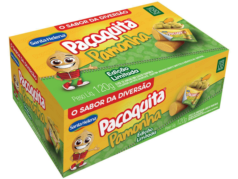 Paçoca Rolha Pamonha Paçoquita 120g - 8 Unidades