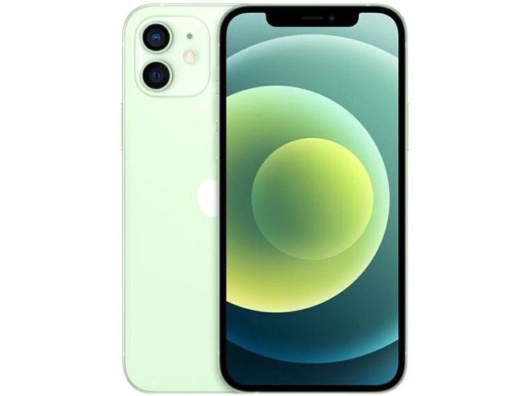 """iPhone 12 Apple 64GB - Verde Tela 6,1"""" 12MP iOS"""