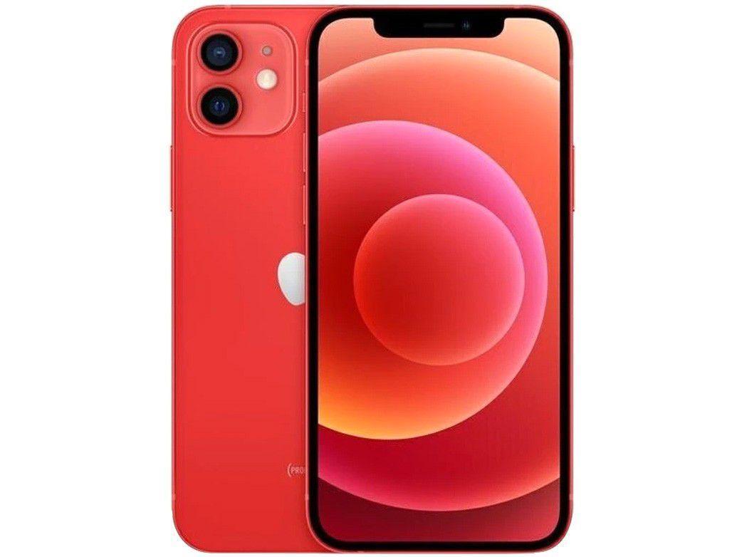 "iPhone 12 Apple 128GB - PRODUCT(RED) - Tela 6,1"" 12MP iOS"