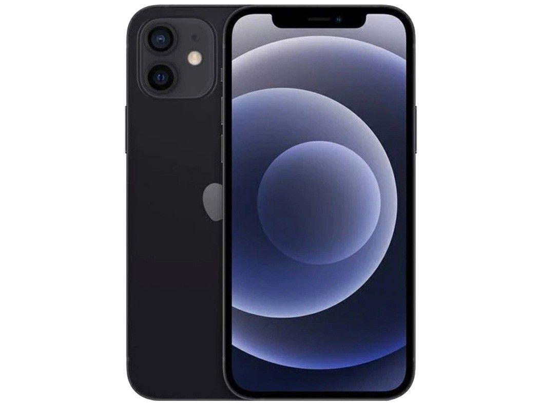 "iPhone 12 Apple 256GB - Preto Tela 6,1"" 12MP iOS"