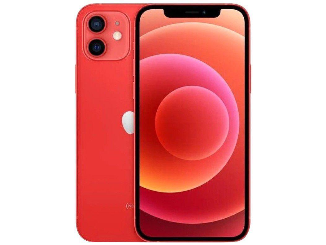 "iPhone 12 Apple 256GB - PRODUCT(RED) - Tela 6,1"" 12MP iOS"