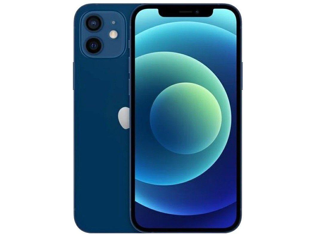 """iPhone 12 Apple 256GB - Azul Tela 6,1"""" 12MP iOS"""
