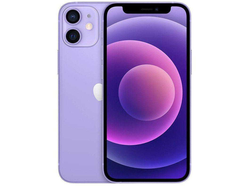 "iPhone 12 Apple 256GB - Roxo Tela 6,1"" 12MP iOS"