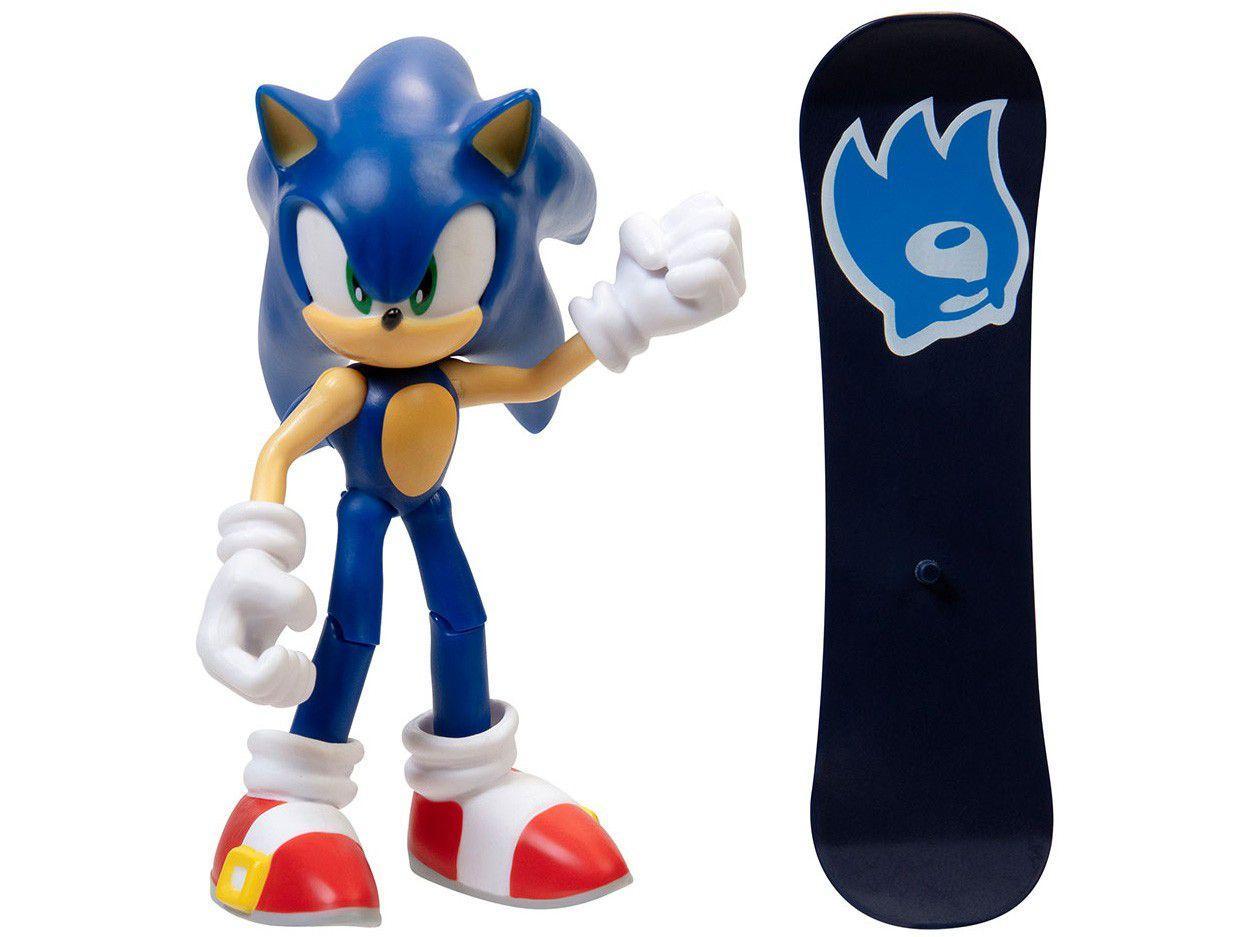 Boneco Sonic The Hedgehog 4 11cm - com Acessórios Fun