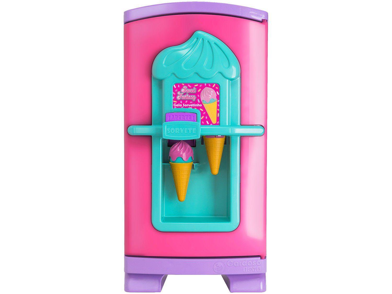 Geladeira de Brinquedo Sweet Fantasy - Gela Sorvetinho 8 Peças Cardoso Toys