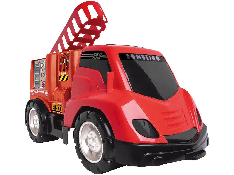 Caminhão de Bombeiro Roda Livre Samba Toys