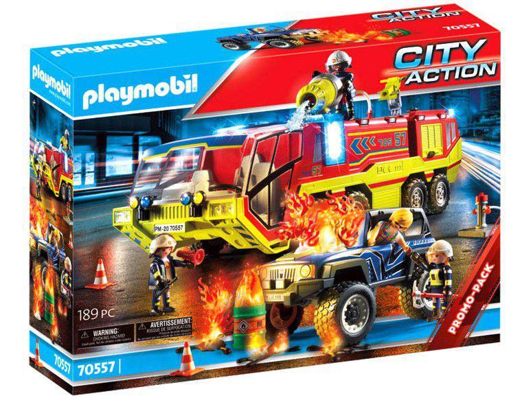 Playmobil City Action Carro de Bombeiros com - Caminhão 189 Peças