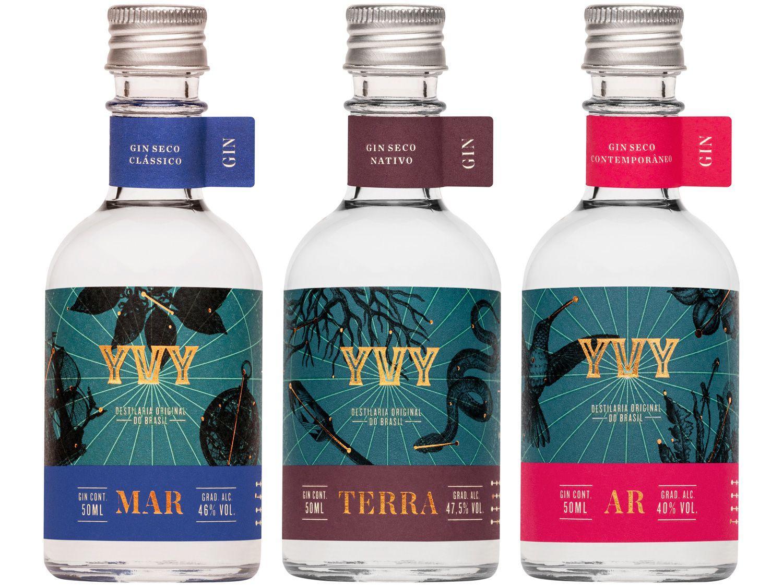 Gin Yvy Premium Trilogia 150ml 3 Unidades