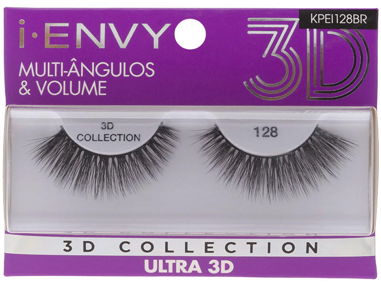 Cílios Postiços Volumosos 3D Inteiro - Kiss New York I-Envy Collection Ultra 128