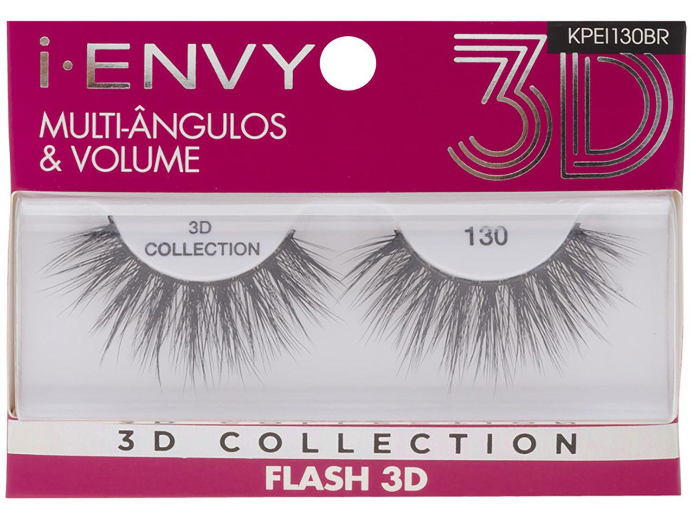 Cílios Postiços Volumosos 3D Inteiro - Kiss New York I-Envy Collection Flash 130