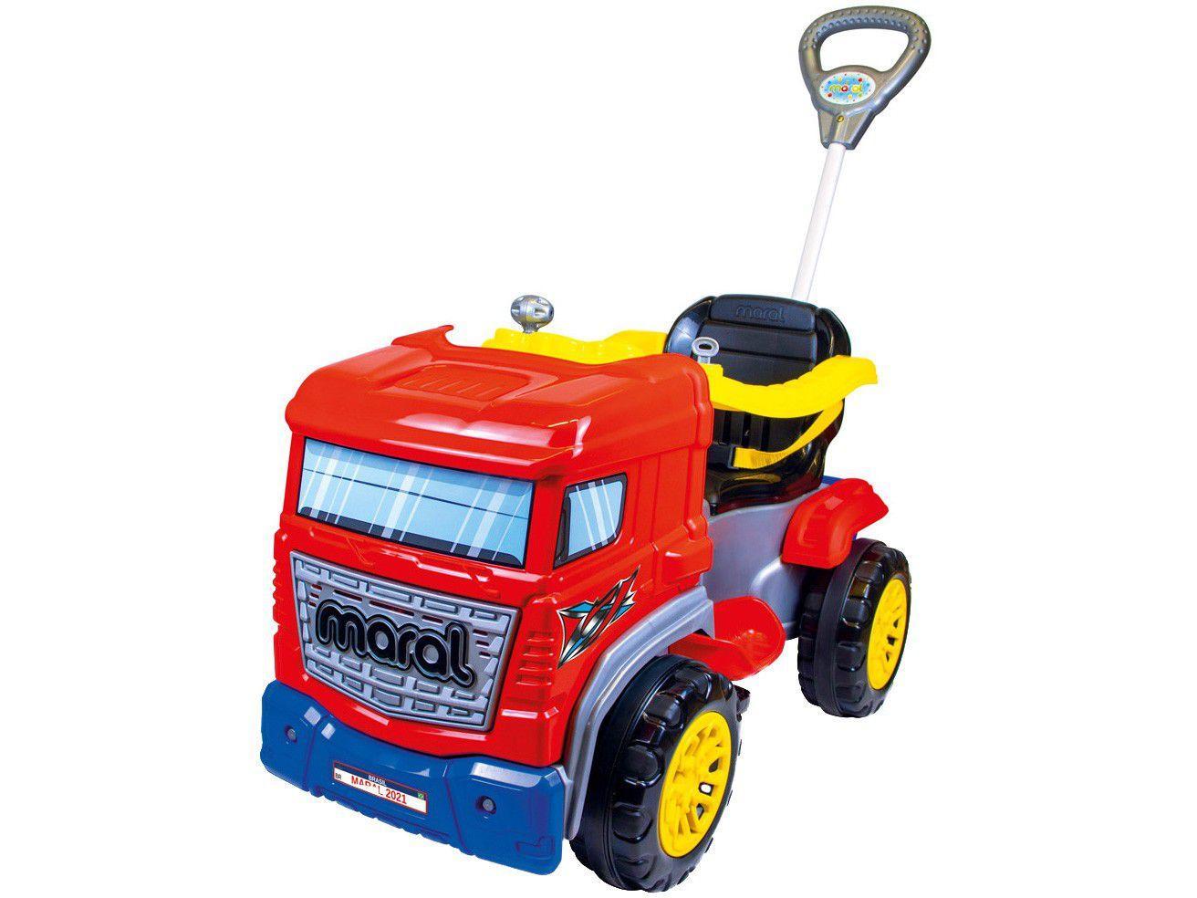 Carrinho de Passeio Infantil Truck com Pedal - com Empurrador Maral