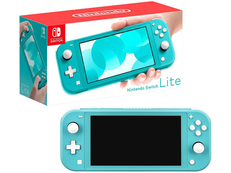 Nintendo Switch Lite 2021 32GB Turquesa - Pré-venda