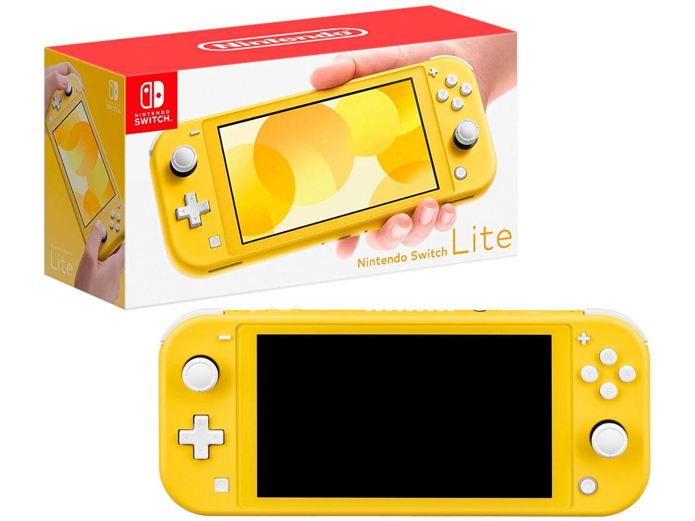 Nintendo Switch Lite 2021 32GB Amarelo - Pré-venda