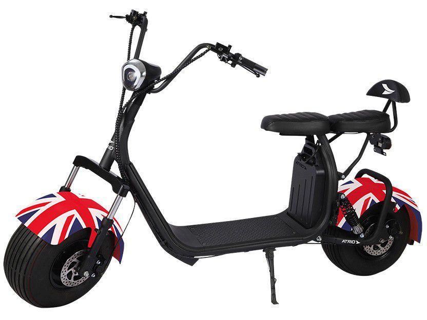Scooter Elétrico 1500W 40km/h Até 200kg Preto - Atrio City Inglaterra ES326