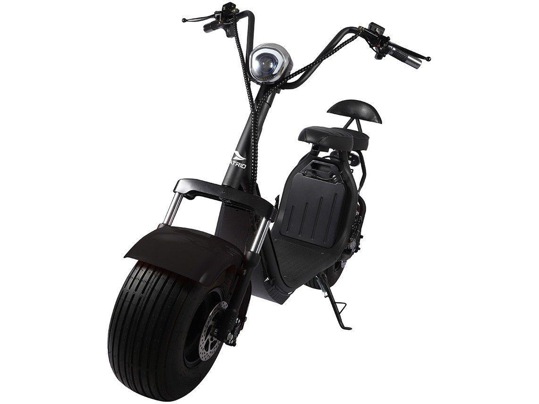 Scooter Elétrico 1500W 40km/h Até 200kg Preto - Atrio City ES327