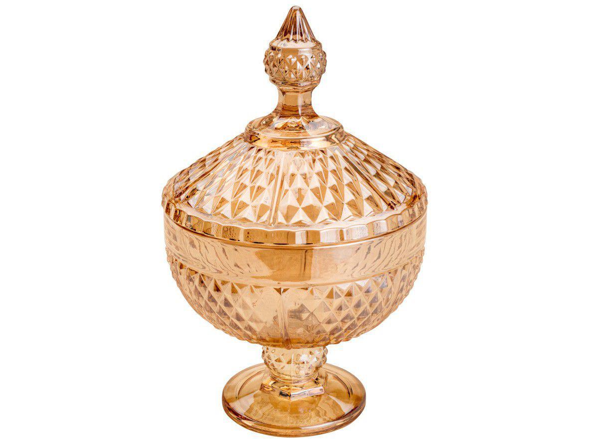 Potiche Decorativo de Cristal 24cm Lyor - Bico de Jaca Perseu