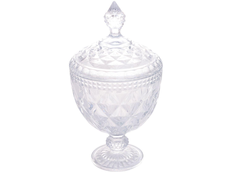 Potiche Decorativo de Cristal 28cm Lyor Diamond