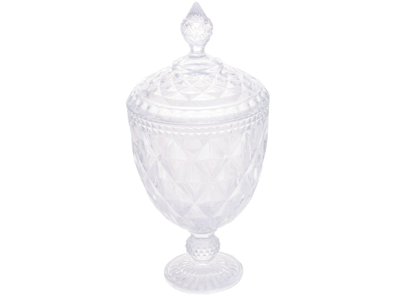 Potiche Decorativo de Cristal 32cm Lyor Diamond