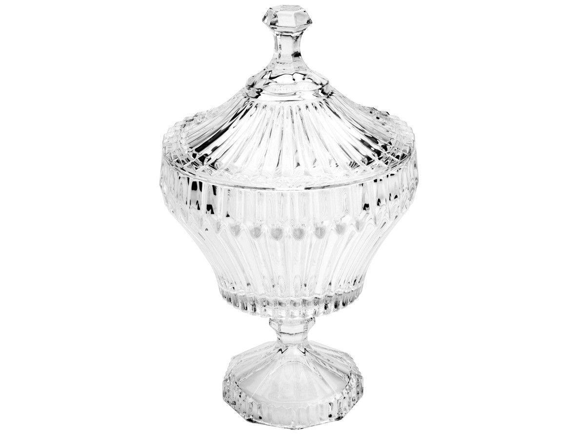 Potiche Decorativo de Cristal 20cm Lyor - Renaissance