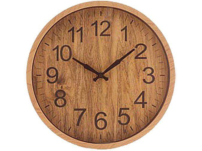 Relógio de Parede Analógico House Wood