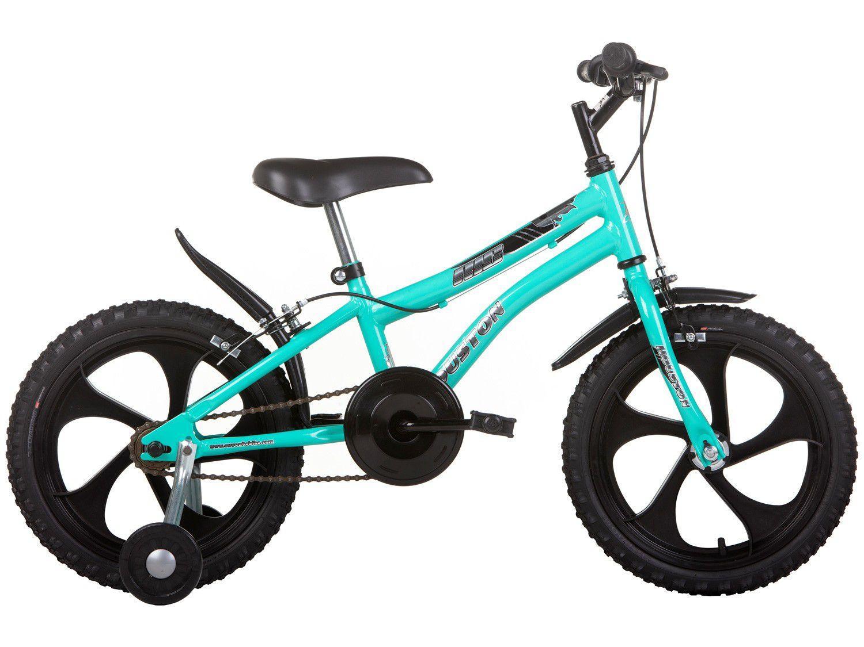 Bicicleta Infantil Aro 16 Houston Nic 16 - Verde Água com Rodinhas