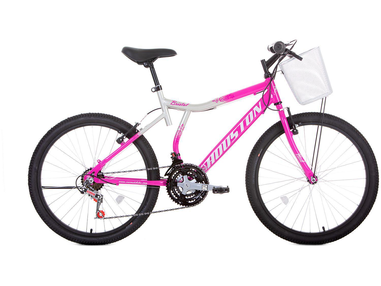 Bicicleta Aro 24 Houston Bristol Peak Aço - Freio V-Brake 21 Marchas