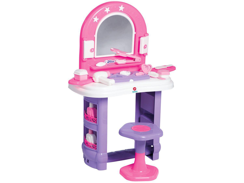 Penteadeira de Brinquedo Miss Glamour 14 Peças - Tateti