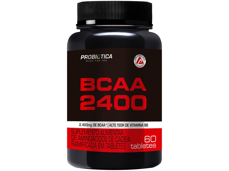 BCAA Probiótica 2400 em Tabletes 60 Tabletes - sem Sabor