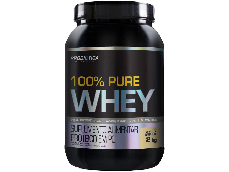 Whey Protein Concentrado Probiótica 100% Pure Whey - 2kg Baunilha