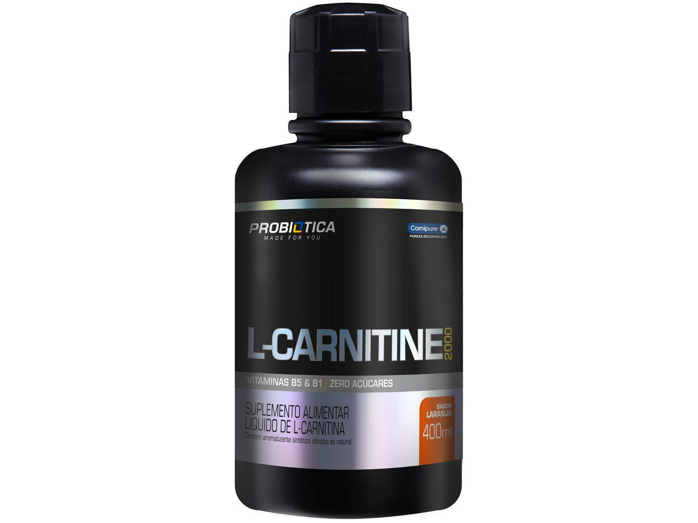 L-Carnitina Probiotica 2000 Líquido 400ml Laranja
