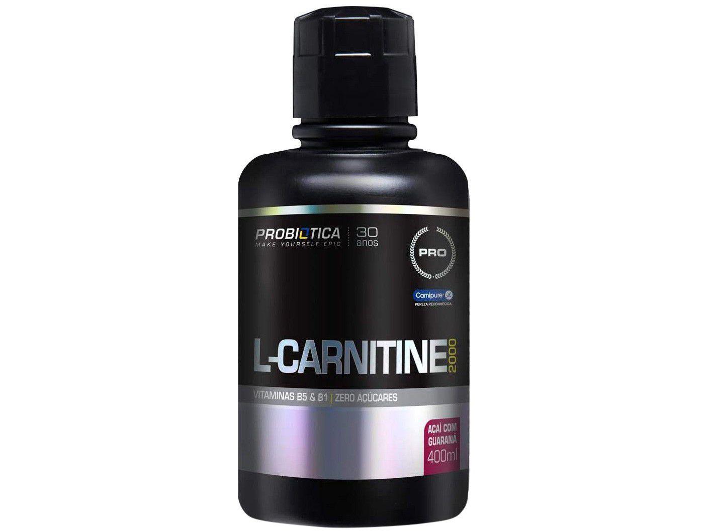 L-Carnitina Probiotica 2000 Líquido 400ml - Açaí com Guaraná
