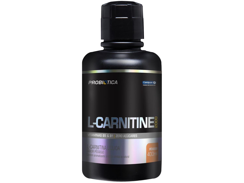 L-Carnitina Probiotica 2000 Líquido 400ml Pêssego