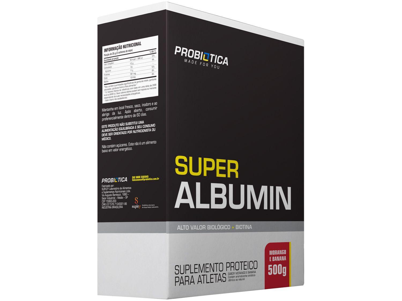 Albumina Probiotica Super Albumin em Pó 500g - Morango com Banana