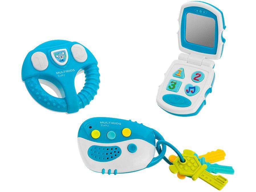 Brinquedo para Bebê BR1245 Multikids - 3 Peças