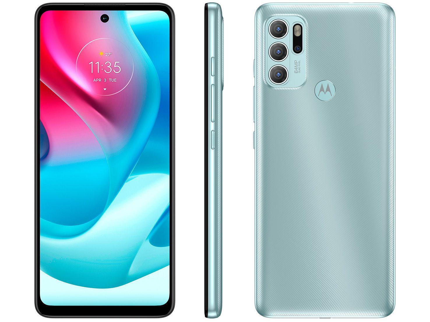 "Smartphone Motorola G60s 128GB Verde 4G - 6GB RAM Tela 6,8"" Câm. Quádrupla + Selfie 16M"