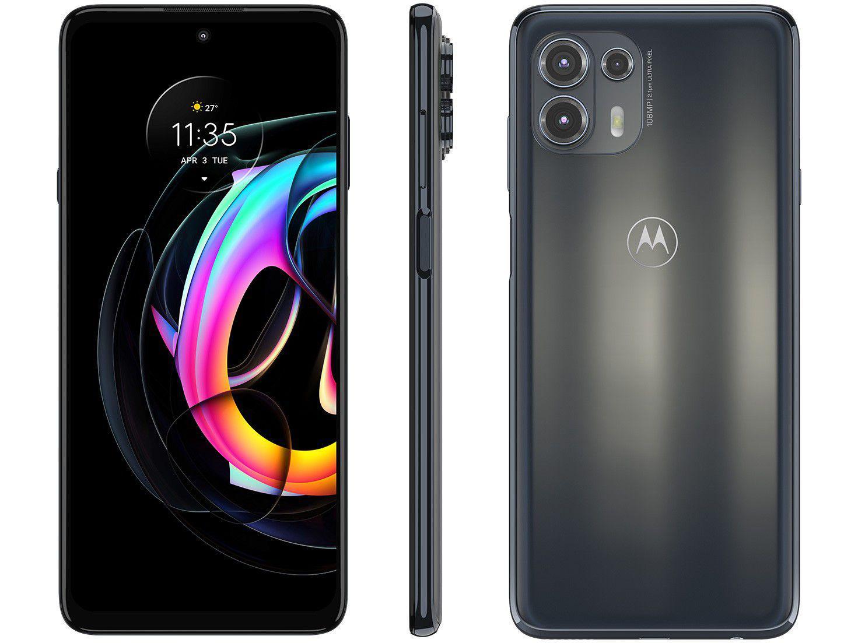 "Smartphone Motorola Edge 20 Lite 128GB Grafite - 5G 6GB RAM Tela 6,7"" Câm. Tripla + Selfie 32MP"