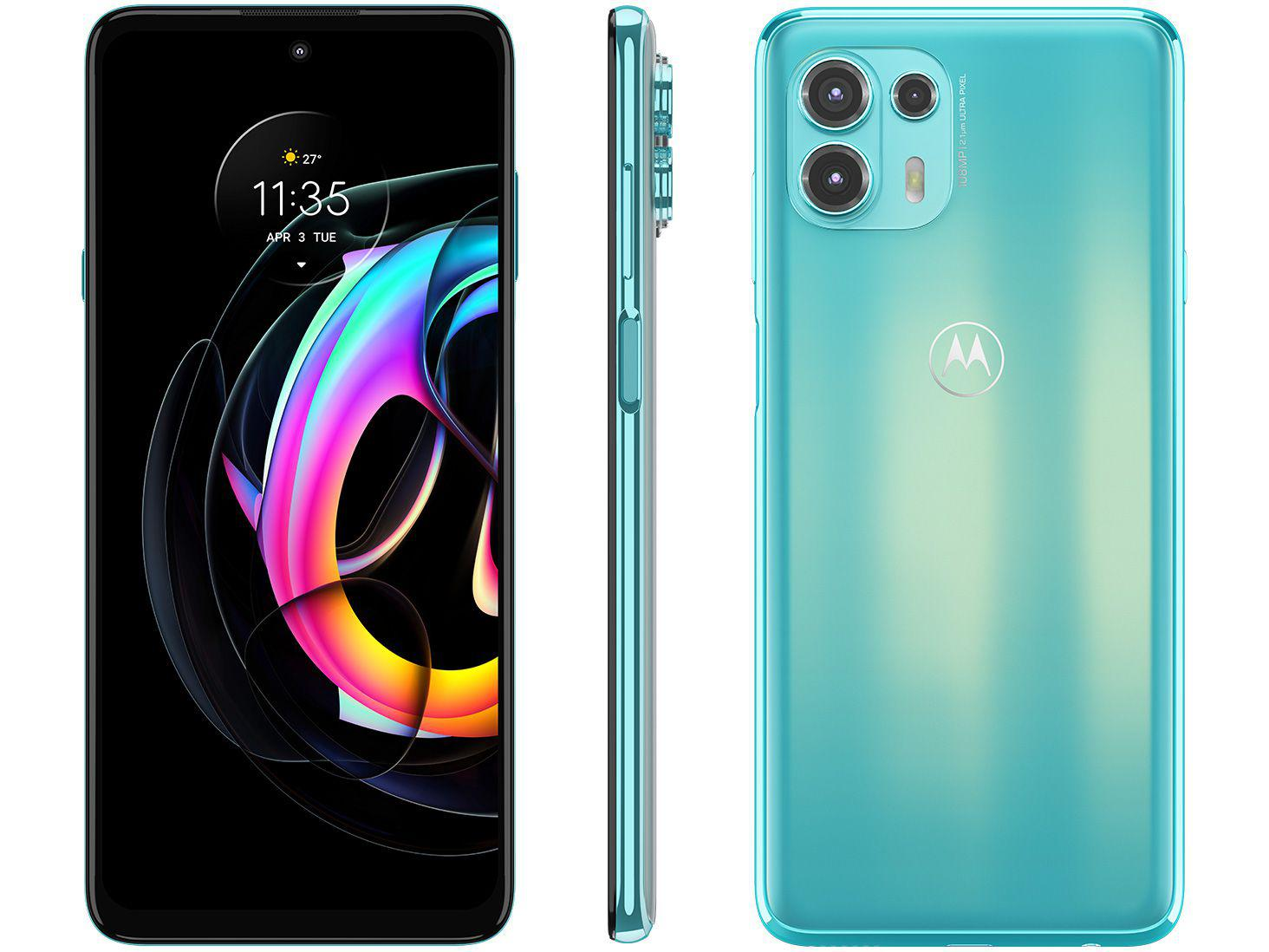 "Smartphone Motorola Edge 20 Lite 128GB Verde - 5G 6GB RAM Tela 6,7"" Câm. Tripla + Selfie 32MP"