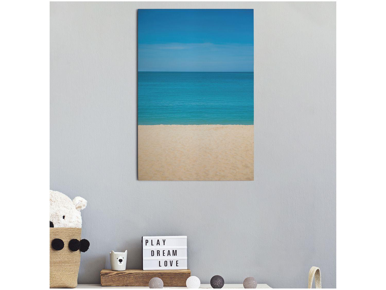 Placa Decorativa MDF Praia 30x44cm - Design Up Living