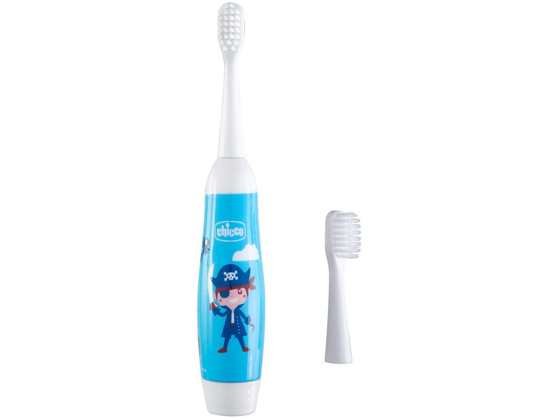 Escova de Dente Elétrica Infantil Chicco - Higiene Oral Pirata